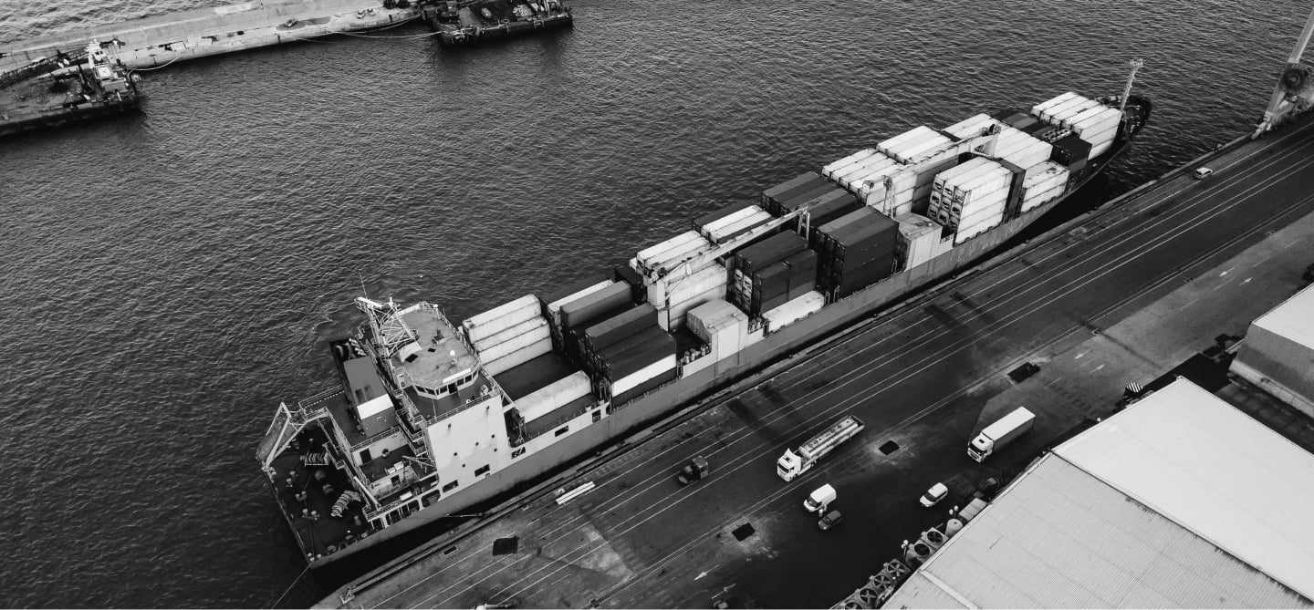 Top view of cargo